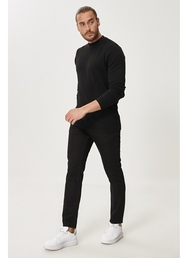 Altınyıldız Classics Slim Fit Dar Kesim Denim Esnek Jean Kot Pantolon 4A0121200125 Siyah